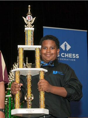 Cameron Rector, 6th grade, won the individual National Championships in the K8 Under 750 section, making him the top chess player in the nation, competing alongside 379 players. Rector won all 7 of his games in Nashville, Tenn., May 10-13, 2017. He is a student at The University Prep Science and Math in Detroit.