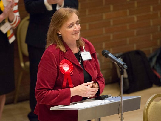 The Labour Party's Emma Dent Coad speaking after she