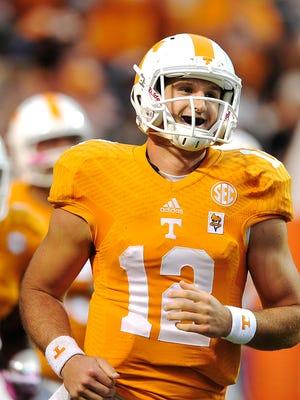 Tennessee quarterback Nathan Peterman