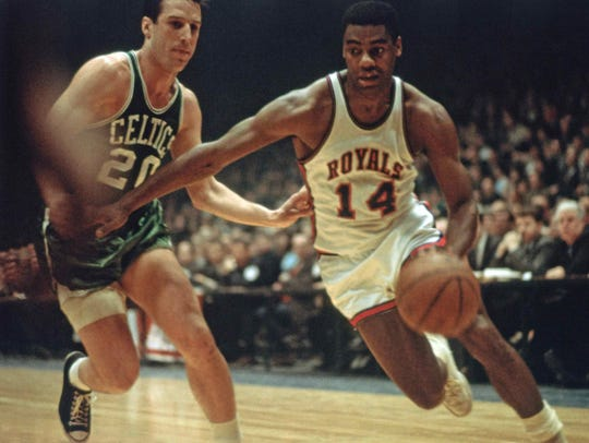 Oscar Robinson averaged more than 30 points in four of his first five seasons playing for the Cincinnati Royals, who would eventually become the Sacramento Kings.