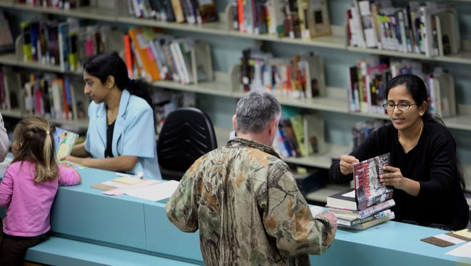 An average of 500,000 people come through the main library branch's doors every year.