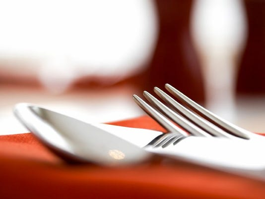 Hotel restaurant table