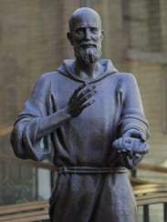 A statue of Solanus Casey, a Catholic priest who died