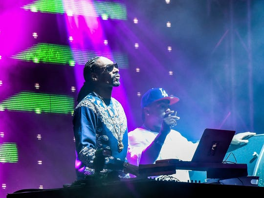 Snoop Dogg closes the weekend out at Movement Electronic Music festival at Hart Plaza Monday evening.