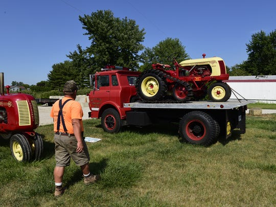 Elwood Dick has antique tractors and is part of the antique tractor club SCRAP.