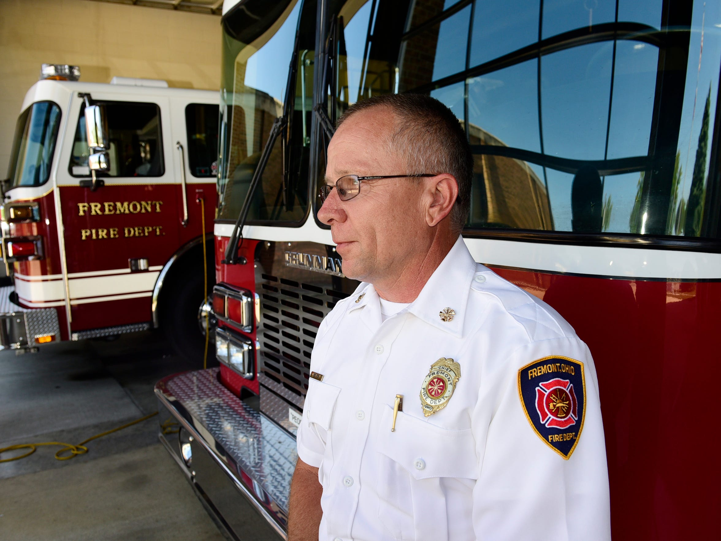 Fremont Fire Chief David Foos lost one of his firefighters