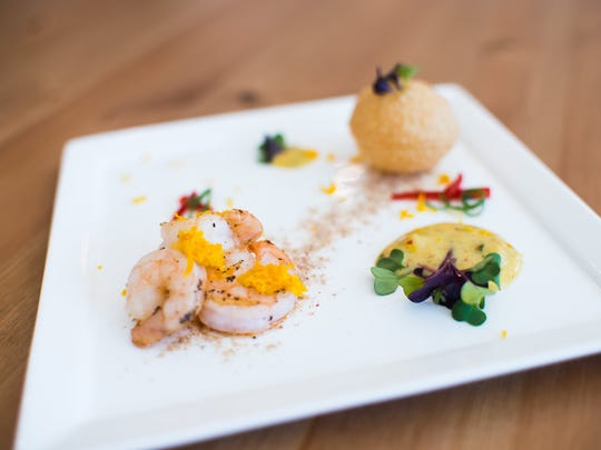 Satsuma shrimp with fried puri puff, creole mango dust and preserved lemon aioli is one of the dishes that will be available at Taste Test in York in mid-April.