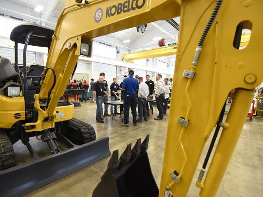 Pioneer students took part in the Technician for a Day program with local employers on the Ohio National Guard base Wednesday morning.
