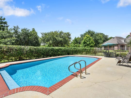 The pool area is large enough for entertaining.