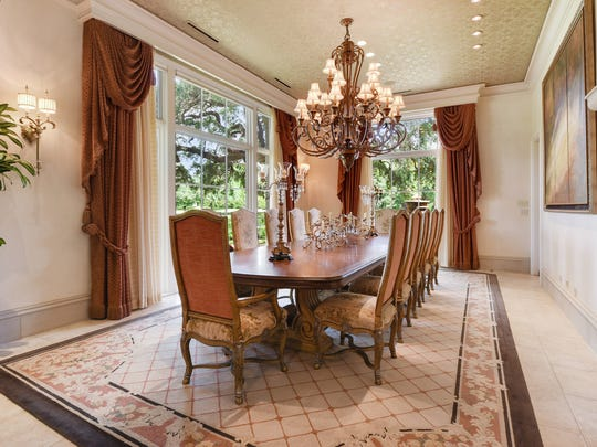 The formal dining room is large enough for any event.