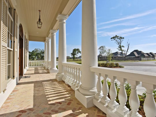 The stately home includes balconies with wonderful