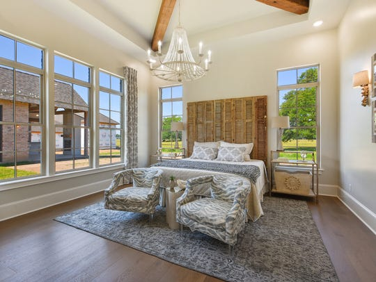 The bedrooms are large and full of natural light.