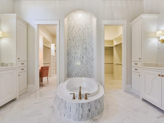 The master bath is a cool oasis in the home,