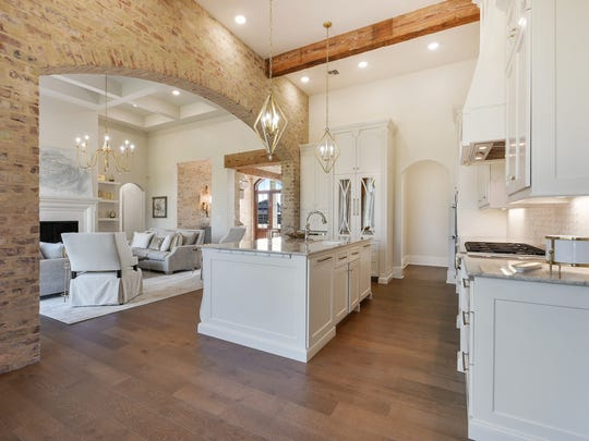 The kitchen is a designer's dream.