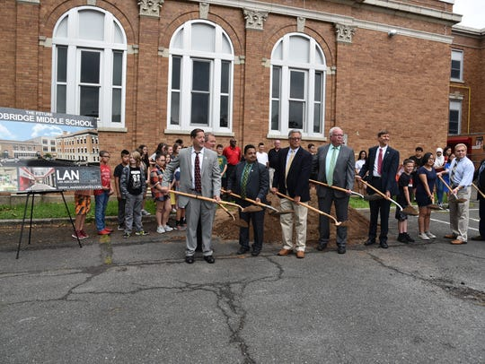 Groundbreaking for the renovations at Woodbridge Middle