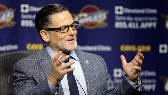 Cleveland Cavaliers owner Dan Gilbert speaks during a news conference Oct. 29, 2014.