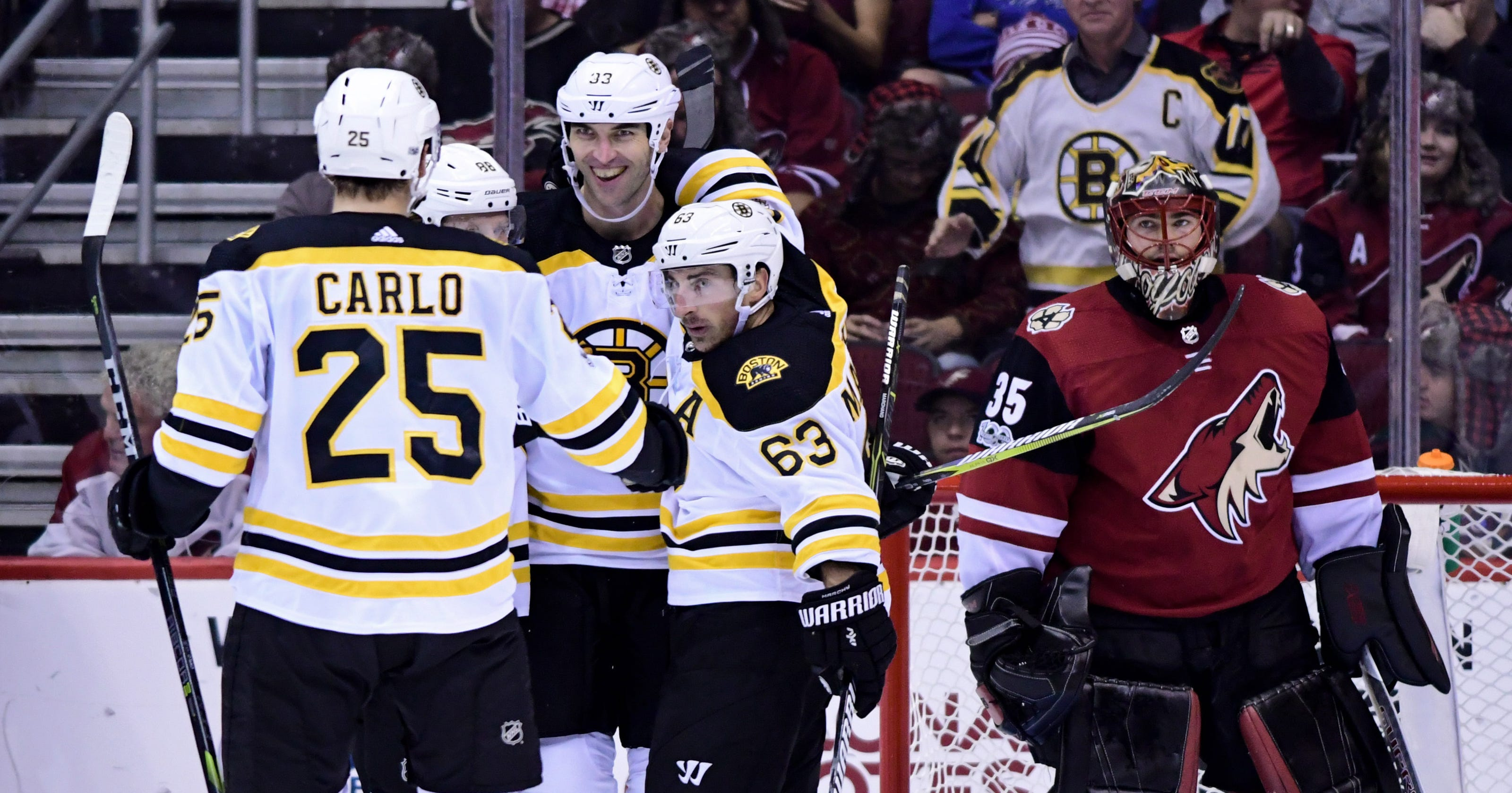 368299418 Arizona Coyotes 'embarrassed' in blowout loss to Bruins