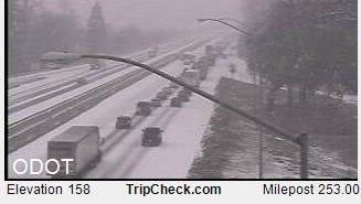 The Oregon Department of Transportation is reporting multiple accidents on Interstate 5 due to slick, icy road conditions on Saturday, Jan. 7.