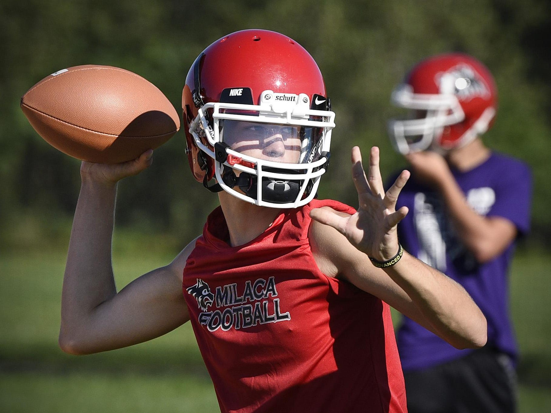 Milaca quarterback Nate Hass threw for 1,662 yards and 13 touchdowns last season.