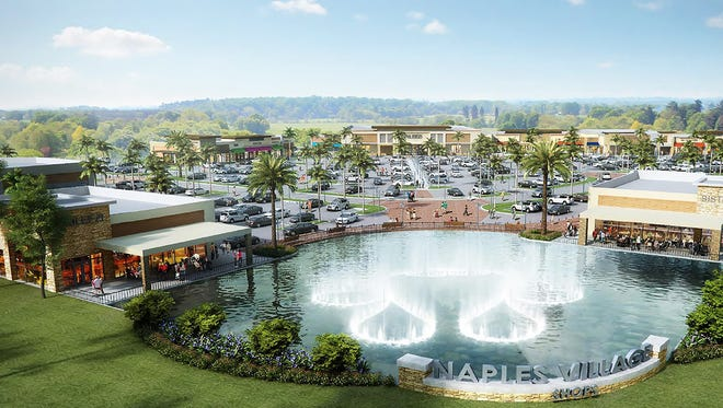 A shopping center anchored by a grocery store has been proposed for the southeast corner of Logan Boulevard and Immokalee Road in North Naples. This conceptual plan by developer GL Homes is still subject to change.