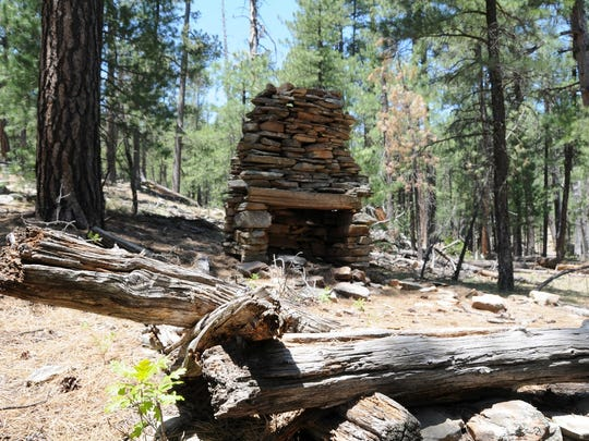 This old fireplace still stands at the site of the