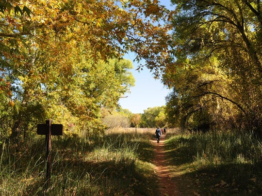 The 5 miles of trails in Red Rock State Park offer easy autumn walking for hikers of all ages.