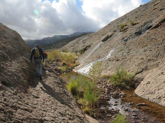 Part of the route to Hackberry Spring in the Superstition Wilderness passes through First Water Gorge.