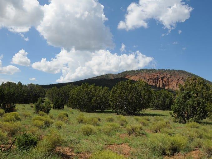 Red Mountain northwest of Flagstaff is an extinct cinder-cone
