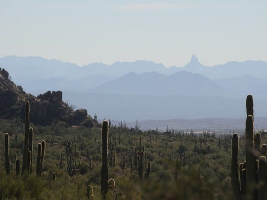 Views of the Superstition Wilderness and Weavers Needle