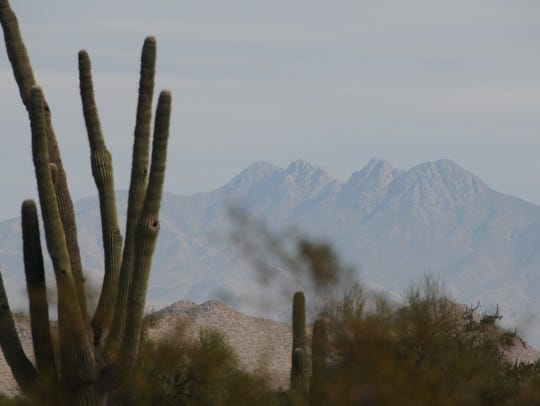 The Four Peaks can be seen from the Wild Horse Trail