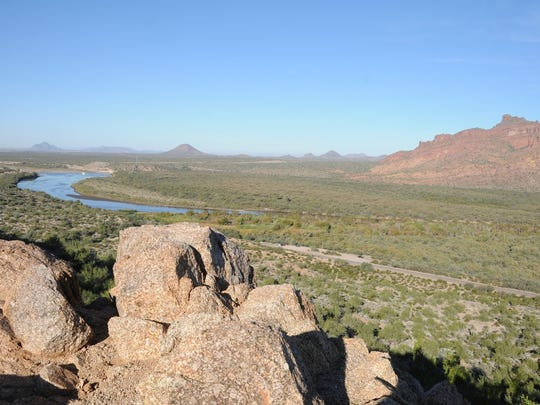 You get a view of the Salt River near Bush Highway