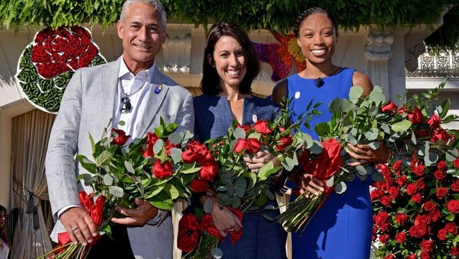 Greg Louganis, Allyson Felix and Janet Evans will serve as grand marshals of the 128th Rose Parade presented by Honda.