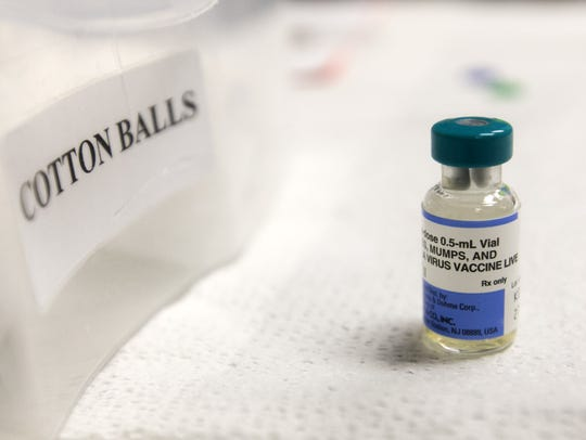 A vial measles vaccine at the Maricopa County Public