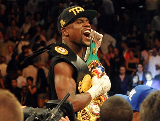 "Floyd ""Money"" Mayweather added to his legacy as the best pound-for-pound fighter in the world -- and one of the best ever -- with a majority-decision victory over Saul ""Canelo"" Alvarez at the MGM Grand in Las Vegas."