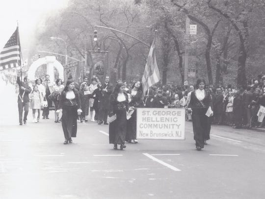 """The Community of St. George Greek Orthodox Church participated in the March 16, 1971 NYC Greek Parade.  St. George is commemorating its 100th anniversary with three major events during its """"Celebration Week"""" October 15 – 22. Celebration Week is the finale of the church's year-long 100th Anniversary activities."""