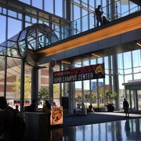 College students are shown in the IUPUI Campus Center at Indiana University-Purdue University Indianapolis on Wednesday, September 16, 2015.