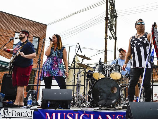 Cherry Blonde was one of four bands that played during the 3rd Thursdays concert series last year in downtown Marion.