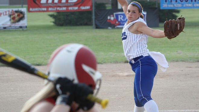 Amber Fiser allowed no hits or runs on the way to a Benton win in the opening tourney game against Aplington-Parkersburg.