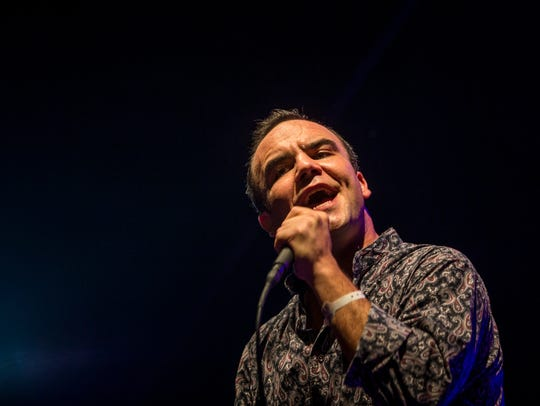 Future Islands performs on the Skyline Stage at the