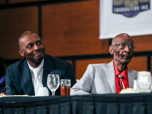 June 20, 2018 - Penny Hardaway and Jerry Johnson listen