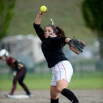 Glasgow pitcher Tyra Johnson delivers to the plate during the first game of the State B-C softball tournament against Florence-Carlton on Thursday in Kalispell.