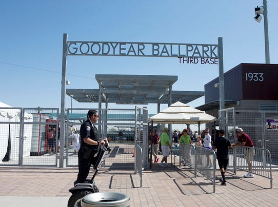 Spring training at Goodyear ballpark