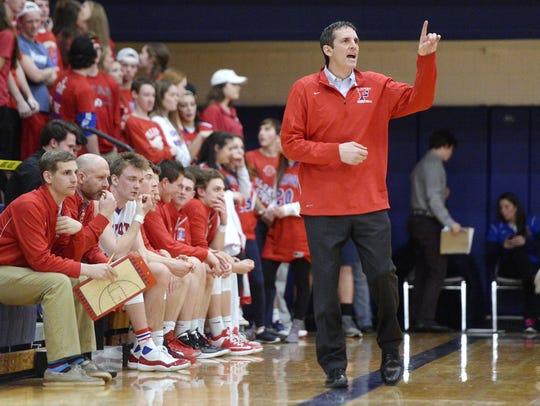 Fairport head coach Scott Fitch's teams have won three