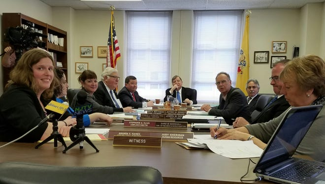 Board members and staff of the New Jersey Election Law Enforcement Commission  meet for the first time in over a year in Trenton on Tuesday.