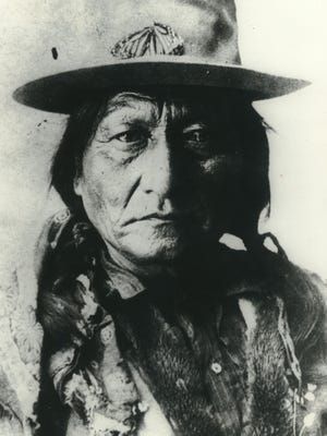 Sitting Bull, the Sioux chief, is shown in an undated photo.