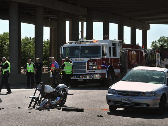 The driver of a motorcycle received possibly life-threatening