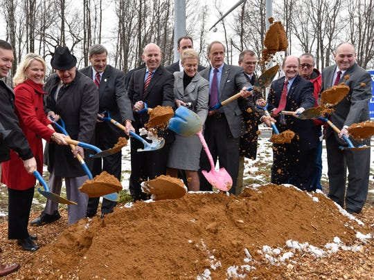 Groundbreaking of the highway 301 project Friday in Middletown.  The project, which has been debated for decades will create a multilane tolled expressway stretching from the C&D Canal to the Maryland line.