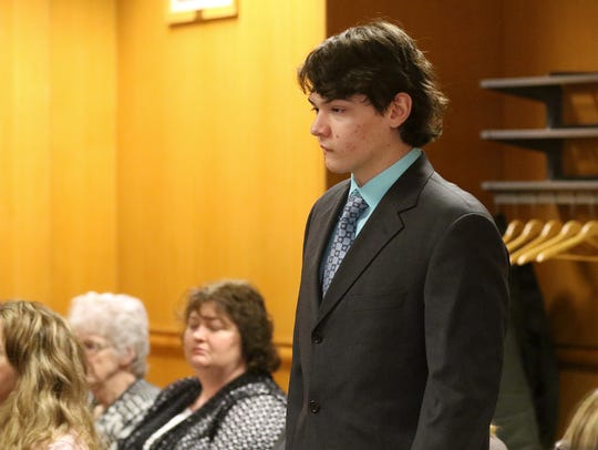 Miguel-Angel Oertel, 18, appears in court for day one