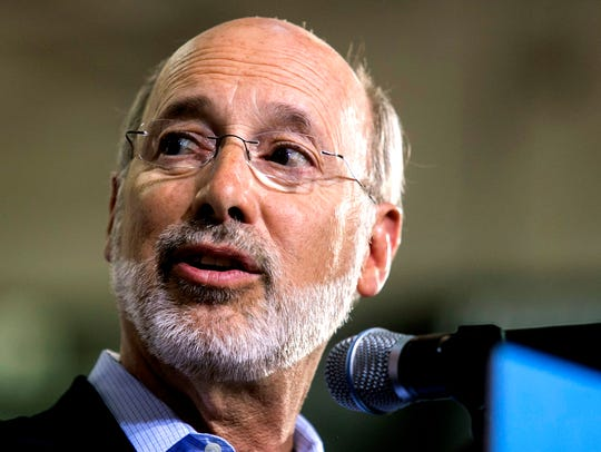FILE - Gov. Tom Wolf makes an appearance at Vice Presidential