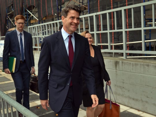 Bill Baroni arrives at the Federal Courthouse in Newark recently during the Bridgegate trial.